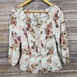 Gimmicks Bke Buckle White Floral Off Cold Shoulder
